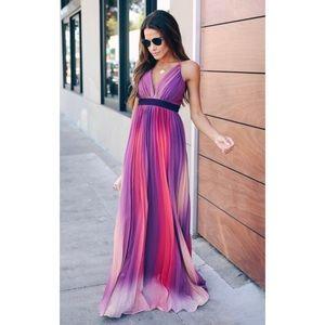 Fusion Pleated Maxi Dress